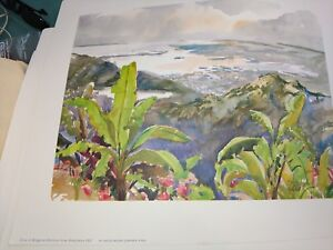 Cecile Ryden Johnson Vintage Six Jamaica Watercolor Prints