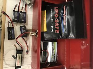 Hobby Lipo batteries and battery manager charger