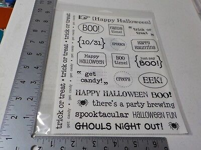 SRM #51007 HAPPY HALLOWEEN STICKER SENTIMENTS BOO GHOULS HAUNTING NEW A5927](Happy Halloween Ghouls)