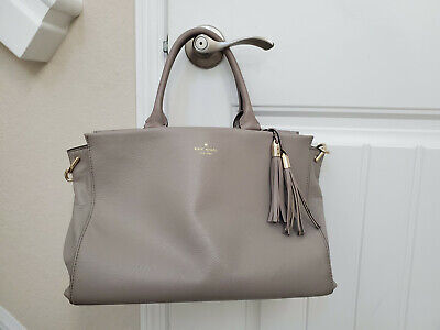 Gray Kate Spade leather handbag