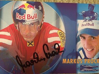 Autogramm AK Markus Prock Rennrodeln Österreich 2x Olympiasilber 5x Weltmeister