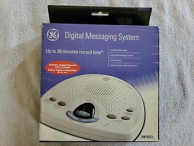 New GE Digital Messaging System English Spanish Answering Machine 29875GE1