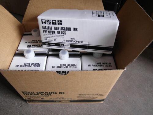 Box of 6 Ricoh PriPort JP5000 5000 Duplicator Black Ink
