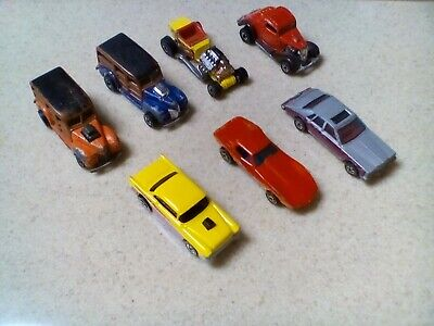 Vintage 80's Blackwall Hot Wheels Lot Corvette Woodie 55 Chevy Cadillac & More