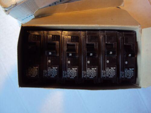 Lot of 6  Siemens I-T-E Cat No. Q120 20amps  1 Pole Circuit Breaker