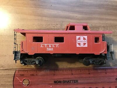Vintage HO Scale Caboose / Train Car - Santa Fe A. T. & S. F. #7240, Red & White for sale  Seymour