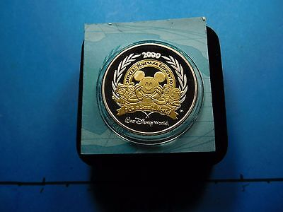 Mickey Mouse Disney 2000 Its A Small World Convention 999 Silver Coin 500 Made
