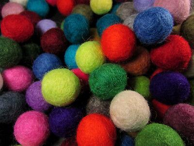 F74 Lot of 100 felt ball 2cm handmade DIY Multi Color Christmas Wholesale Nepal