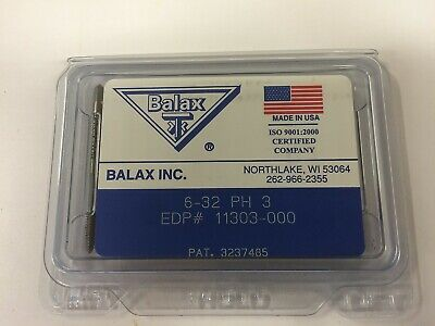 12 Pcs. Balax 6-32 Series Bxp Plug Chamfer Thredfloer Roll-form Taps