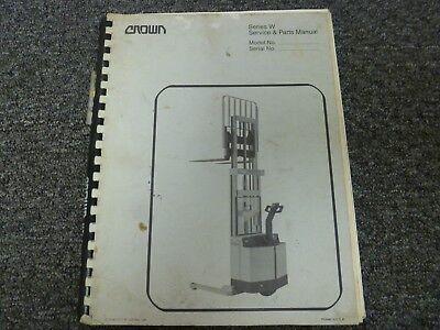 Crown 30wtf Walkie Straddle Stacker Parts Catalog Service Repair Manual
