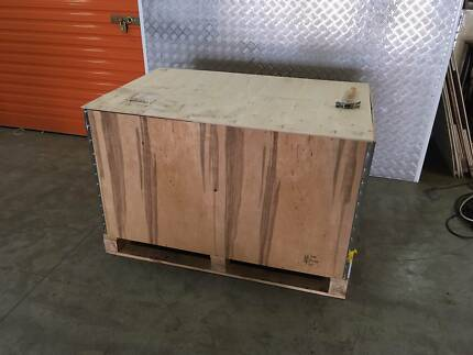 Shipping crates, boxes, tea chest