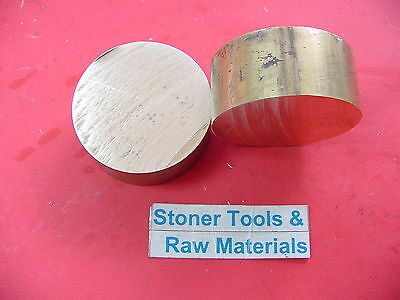 2 Pieces 1-34 C360 Brass Round Rod 1 Long Solid H02 Lathe Bar Stock 1.75 Od