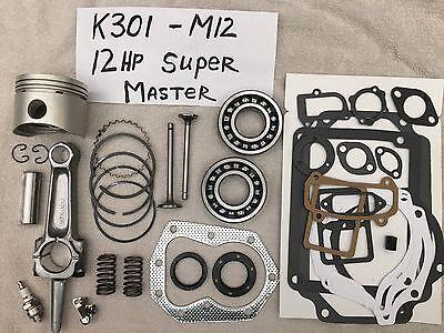 Super Master Rebuild Kit For 12Hp Kohler K301 Valves  Bearings  Springs  Tune Up