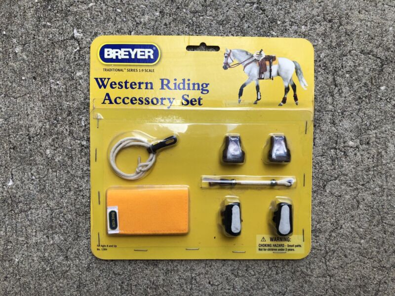 New Retired Breyer Horse Traditional Accessory #1384 Western Tack Set Boots Pad