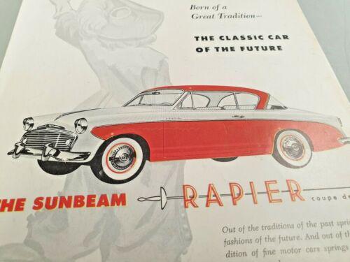 1956 ? SUNBEAM RAPIER Original  Sales Advert