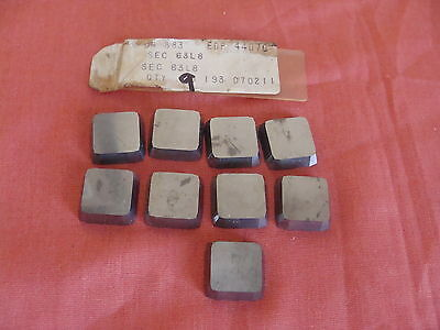 New Old Stock Carboloy Sec63l8 Carbide Inserts Grade 883 Lot Of 9
