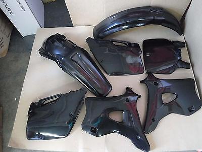 POLISPORT BLACK  KAWASAKI PLASTIC KIT KX125 KX250  1994 1995 1996 97 98