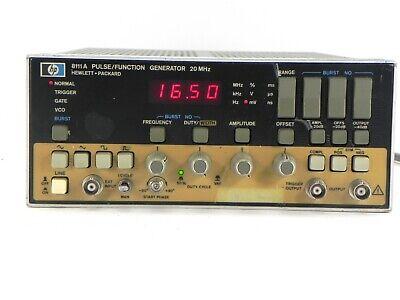 Agilent Hp Keysight 8111a Pulsefunction Generator 20 Mhz