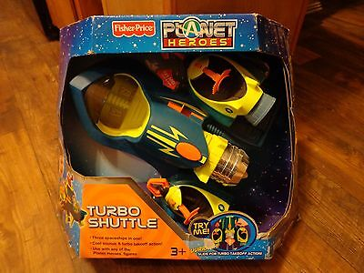 2007 FISHER PRICE--PLANET HEROES--TURBO SHUTTLE (NEW)