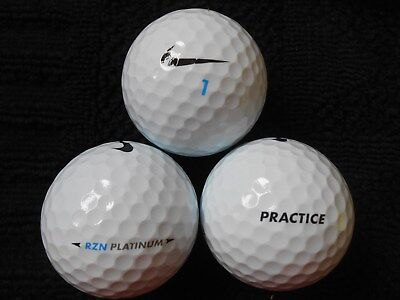 "10 NIKE ""RZN TOUR PLATINUM"" - ""PRACTICE""  ON BALL Golf Balls- ""PEARL/A"""