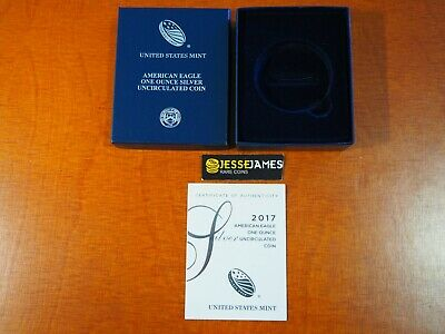 Box Coa No Coin - NO COIN: 2017 W BURNISHED SILVER EAGLE BOX/COA OGP ONLY BUY 2 GET 1 FREE!!