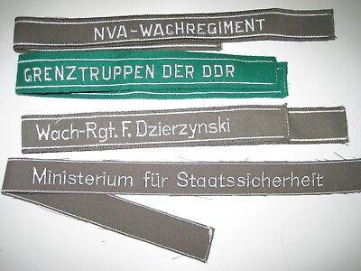 4 stk NVA Ärmelband Ärmelstreifen Ministerium für Staatssicherheit Grenztruppen