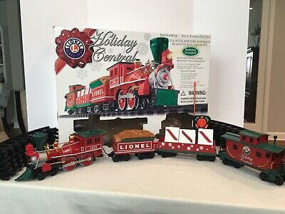Lionel Holiday Central Christmas Train Set, G Scale, Battery Operated