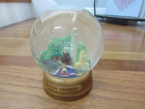 Los Angeles Skyline Snow Globe 6 Inches Themedome 1996 Hollywood Chinese Theatre