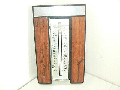 - Vintage Telephone List Finder Flip Up Phone Number Address Book Index Wood Grain
