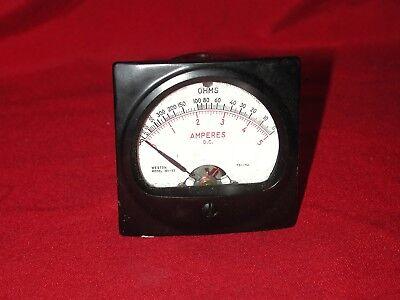 Weston 301-57 Dc 0-2k Ohms 0-5a Tube Amplifier Preamp Analog Panel Meter