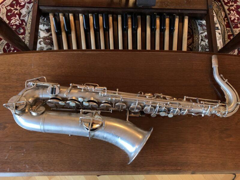 Buescher True Tone C Melody Saxophone Silver Plate Overhauled!