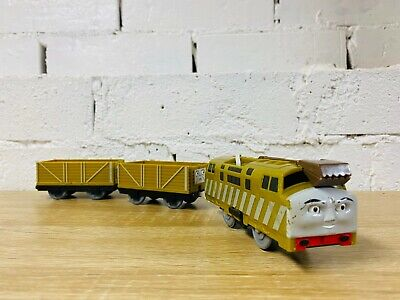 Diesel 10 & Brown Troublesome Trucks - Thomas Tomy Motorised Trackmaster Trains