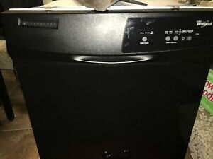 Free whirlpool dishwasher black