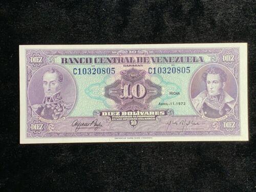 1972 Venezuela 10 Bolivares Uncirculated #10320805