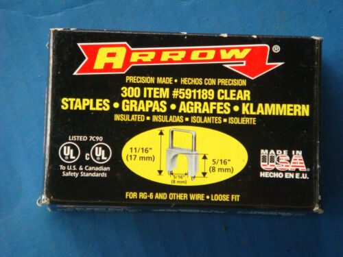 New Arrow Fastener 591189 11/16-Inch T59 Insulated Staples, 300 count box, Clear