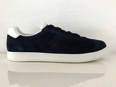 Prada Zapatos Hombre Zapatillas Ante Azul Oscuro Eu: 42,5 (8,5) Nuevo /