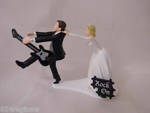 wedding cake topper man with guitar guitar cake topper ebay 26352