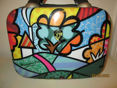 "Heys USA Britto Landscape & Flowers 12"" Hard Case Beauty Case  B702 for Travel"