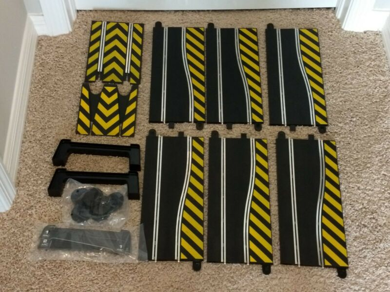 Scalextric Track Lot Of 12 Pieces Side Swipe Leap