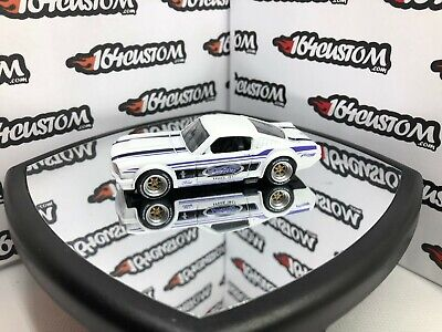 2019 Hot Wheels '65 Mustang 2+2 Fastback - White - SUPER CUSTOM Real Riders