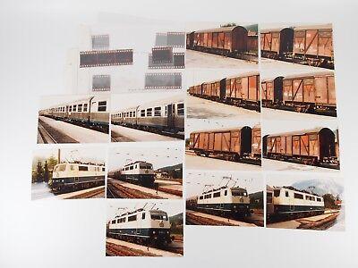 "12 Fotos 10x15 mit Negativen - E-Lok BR 111 undWagen DB, Ruhpoldung 1986 ""Xoc13"