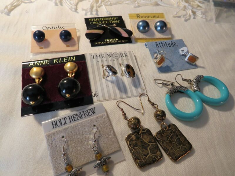 ​Lot of Costume Jewelry Carded Collection Earrings plus. 9 Pairs