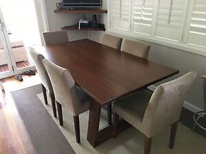 Designer dining set including six chairs Beverley Park Kogarah Area Preview