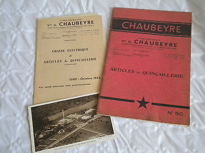 vintage catalogue brochure 1952 Chaubeyre Hardware and chain maker