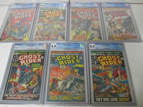 1972 Marvel Spotlight 5-11 CGC 6.0-8.5 1st Ghost Rider Complete Set