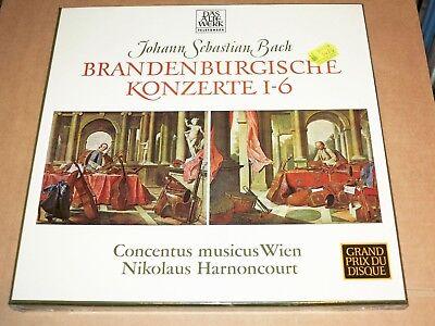 Bach 2 LP Caja - Brandenburgische Conciertos 1-6 / Harnoncourt/Telefunken En Neu
