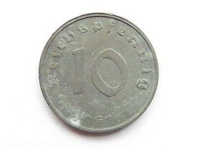 H129     DRITTES REICH 10 Pfennig Zink 1943 G