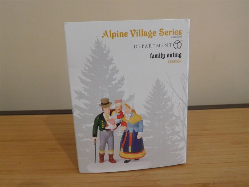 Dept 56 Alpine Accessory - Family Outing # 6000567 - NIB Free Shipping