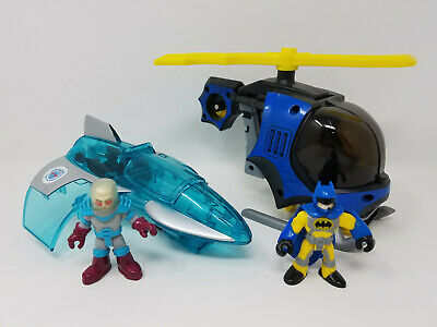 Fisher Price Imaginext Batman Batcopter & Mr. Freeze Jet Plane Set w/ Figures
