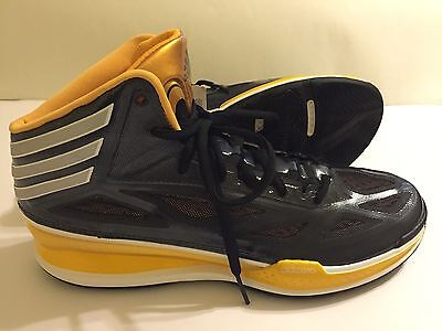 outlet store a4704 4d47e Adidas Adizero Crazy Light 3 Basketball Shoes, Black  Yellow, Size 14.5